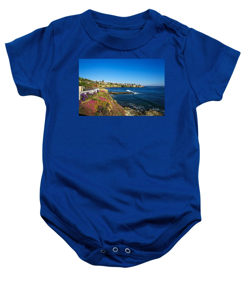 La Jolla Baby Onesie featuring the photograph Spring Evening by Dave Files