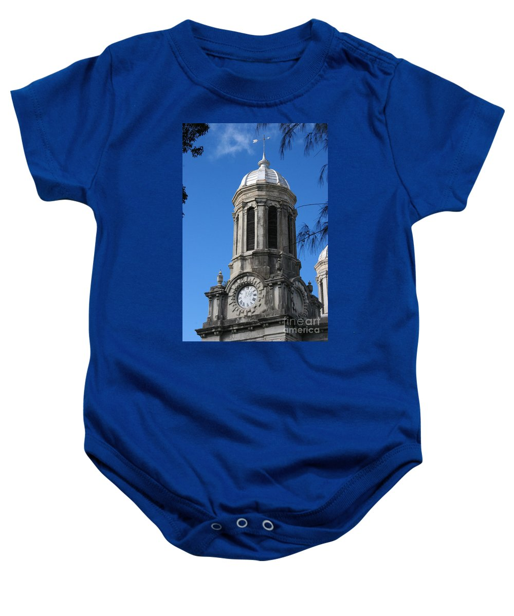 St. John's Cathedral Baby Onesie featuring the photograph St Johns Cathedral Antigua by Jason O Watson