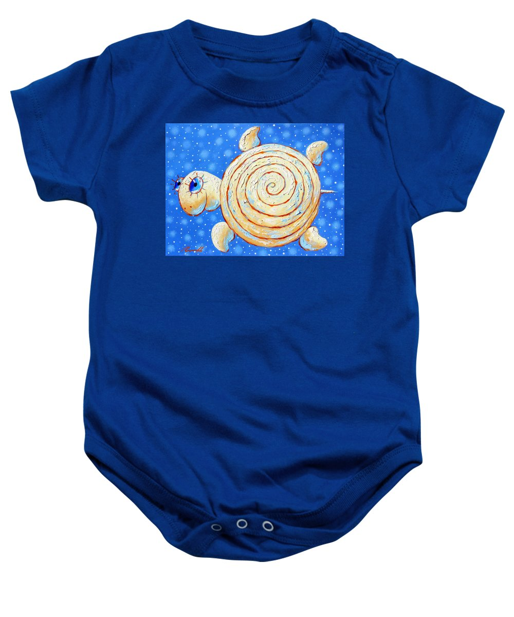 Starry Journey Baby Onesie featuring the painting Starry Journey by Sergey Lipovtsev