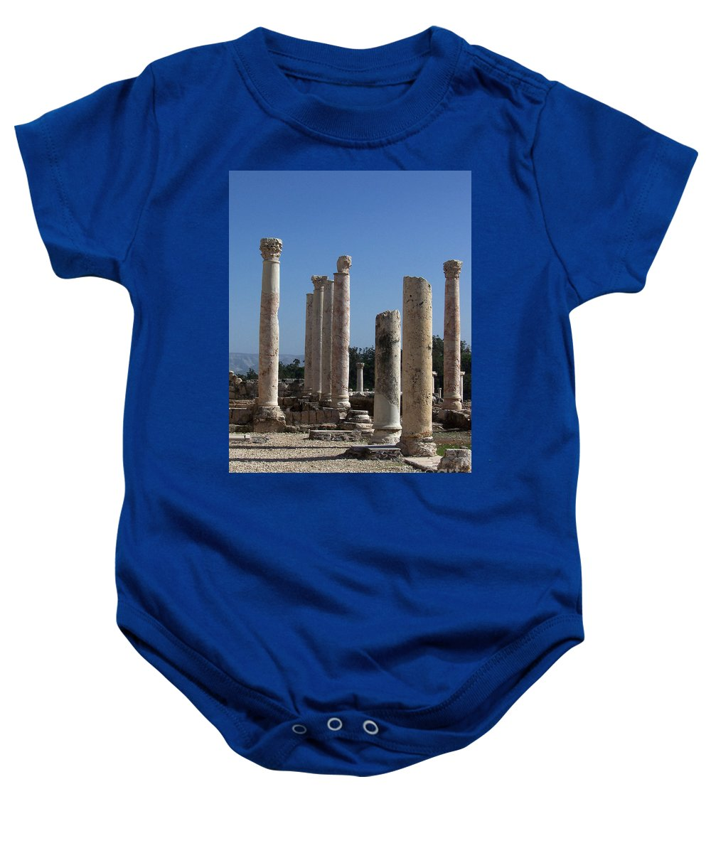Israel Baby Onesie featuring the photograph Still Standing by Kathy McClure