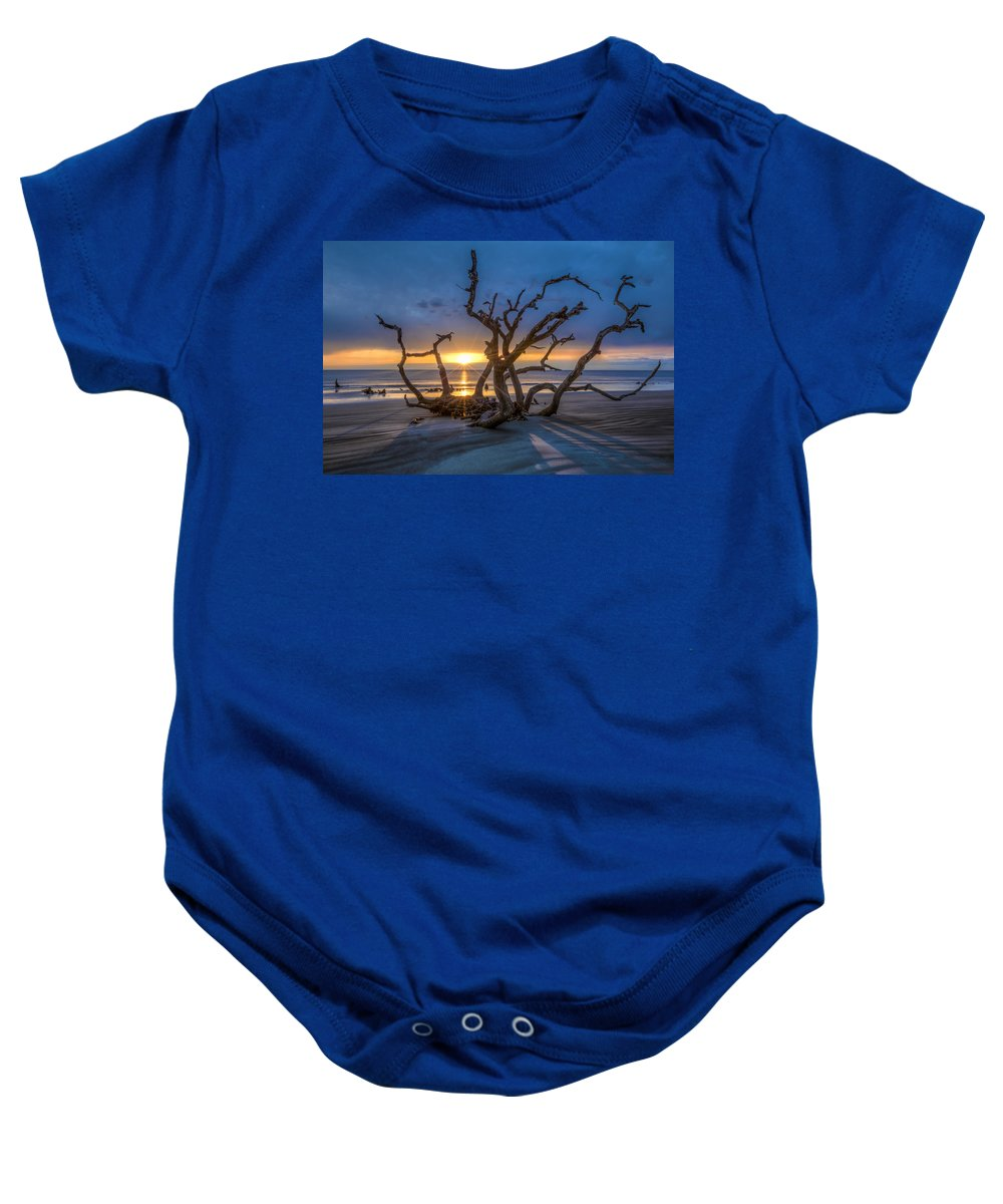 Clouds Baby Onesie featuring the photograph Sun Shadows by Debra and Dave Vanderlaan