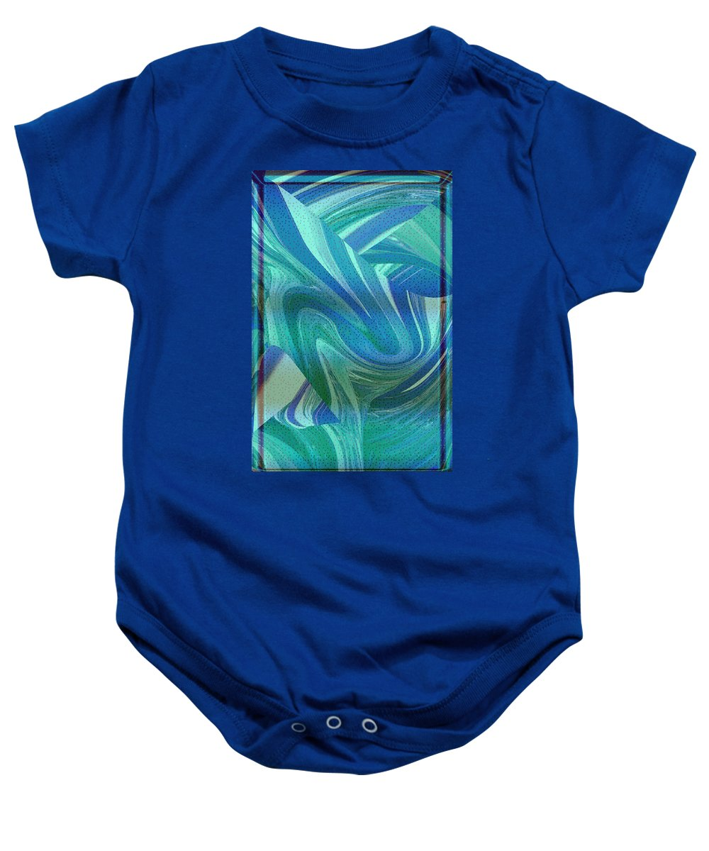 Abstract Baby Onesie featuring the photograph Swirling Abstract by Becca Buecher