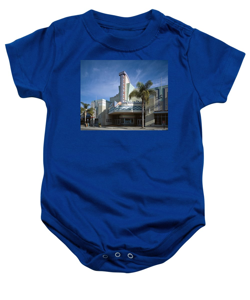 The Century Theatre Baby Onesie featuring the photograph The Century Theatre In Ventura by Mountain Dreams