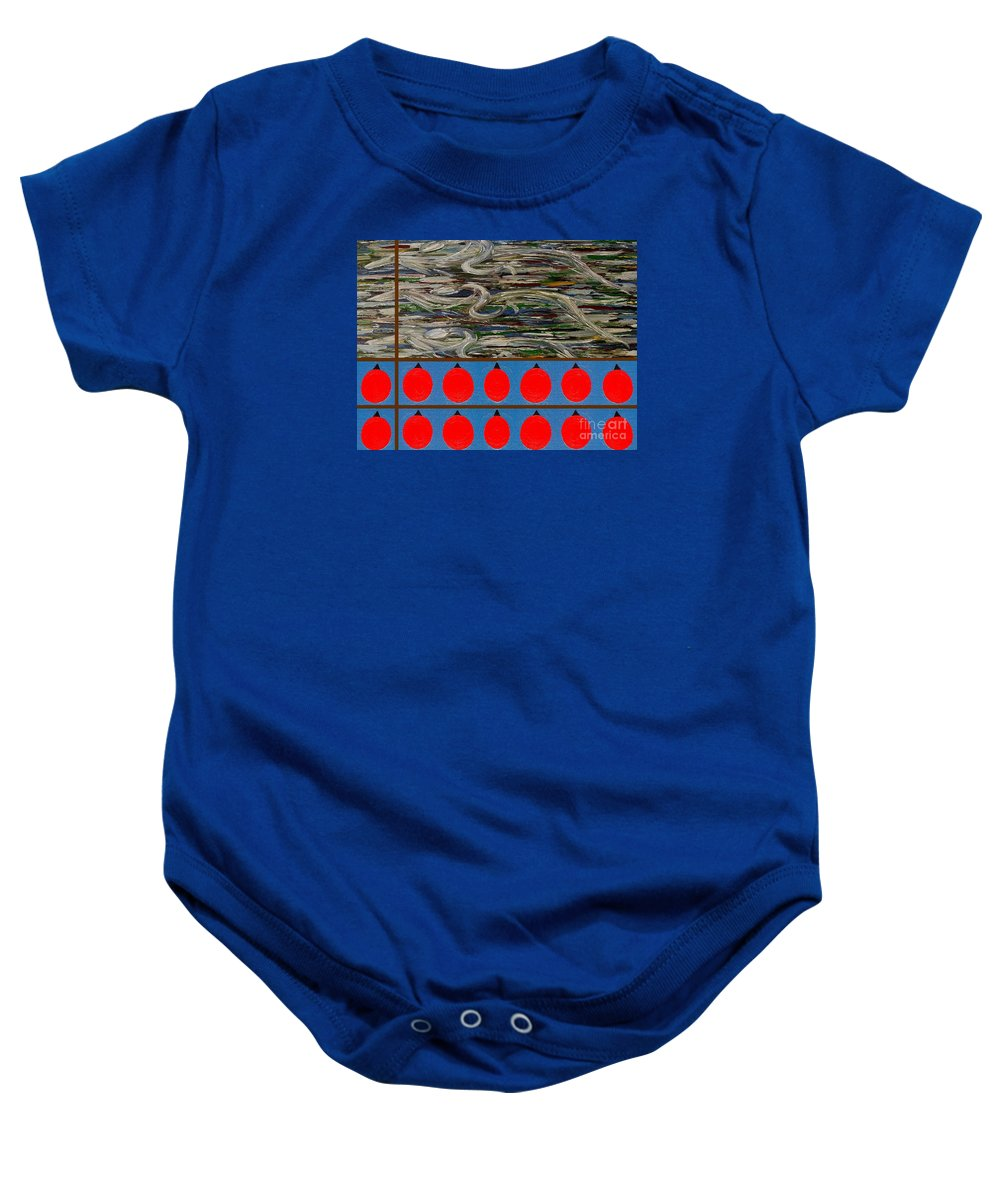 Horses Baby Onesie featuring the painting The Finishing Line by Patrick J Murphy