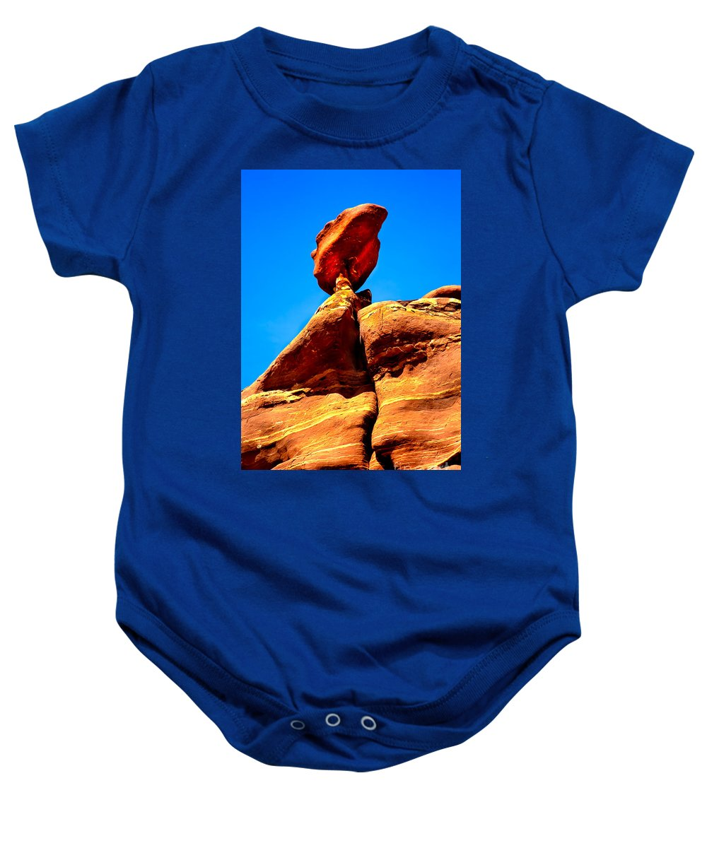 Panoramic Baby Onesie featuring the photograph The Head by Robert Bales