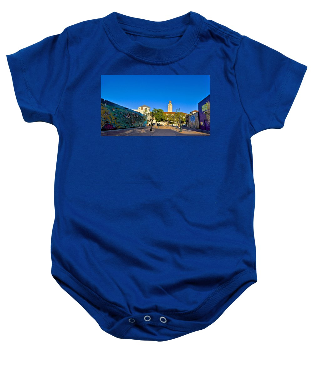 The University Of Texas Tower Photograph Baby Onesie featuring the photograph The University Of Texas Tower by Kristina Deane