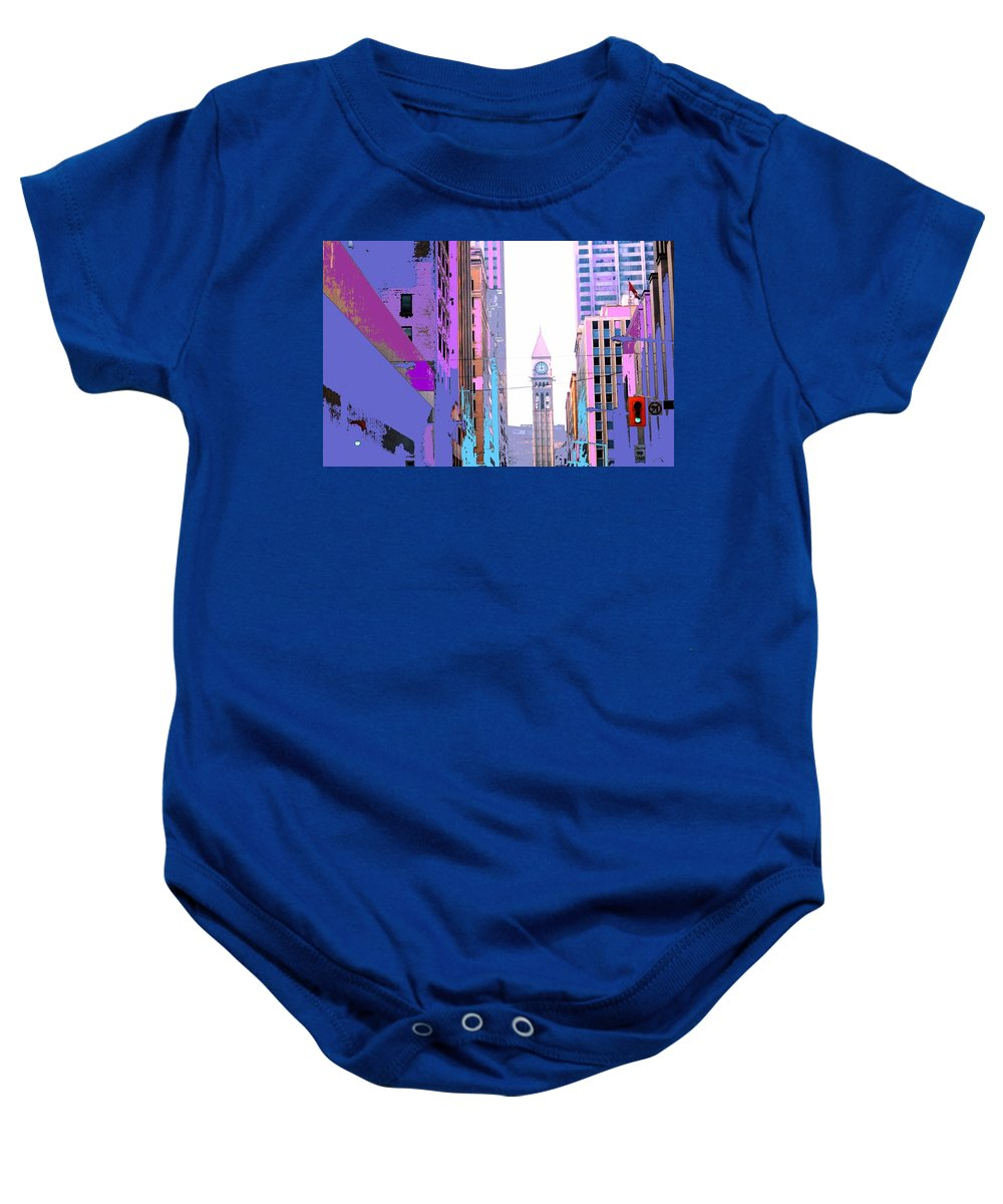 Bay Baby Onesie featuring the photograph Toronto Old City Hall by Ian MacDonald