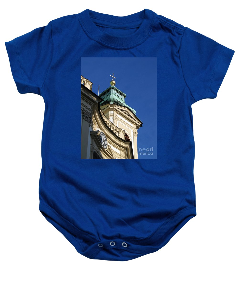 Tower Baby Onesie featuring the photograph Tower Vienna Austria by Jason O Watson