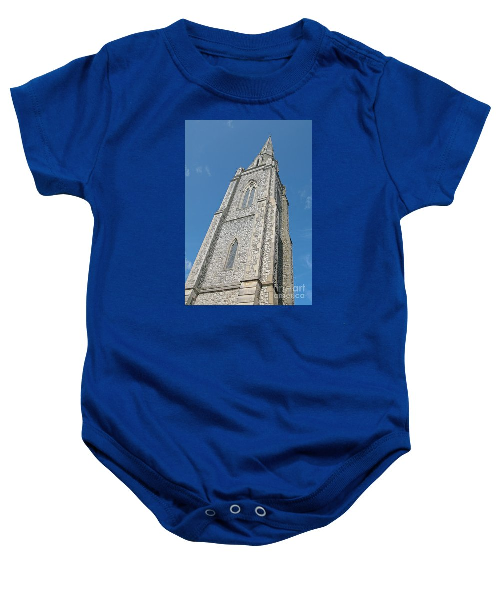 England Baby Onesie featuring the photograph Towering by Ann Horn
