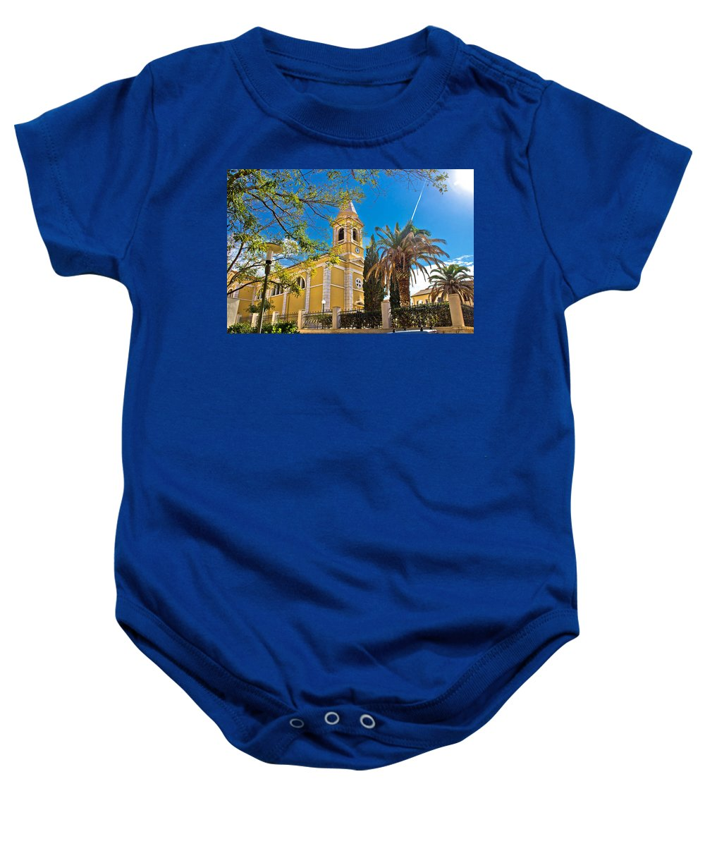 Croatia Baby Onesie featuring the photograph Town Of Novalja Church Pag Island by Brch Photography