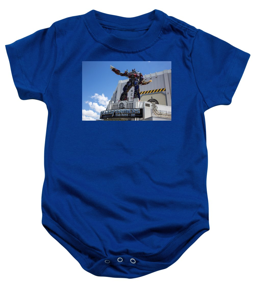 Florida Baby Onesie featuring the photograph Transformers The Ride 3d Universal Studios by Edward Fielding