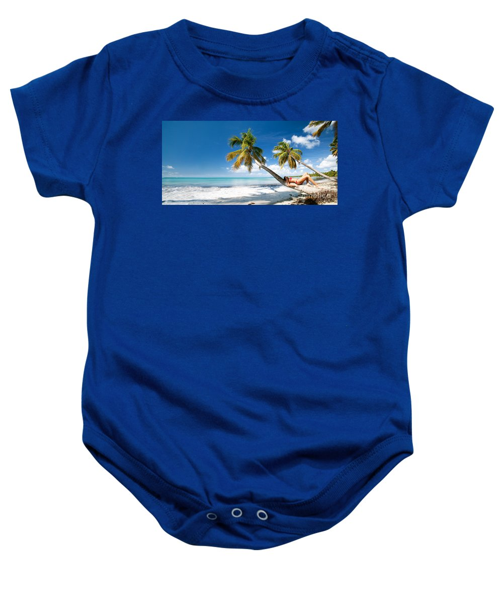 Idyllic Baby Onesie featuring the photograph Tropical Escape by Matteo Colombo