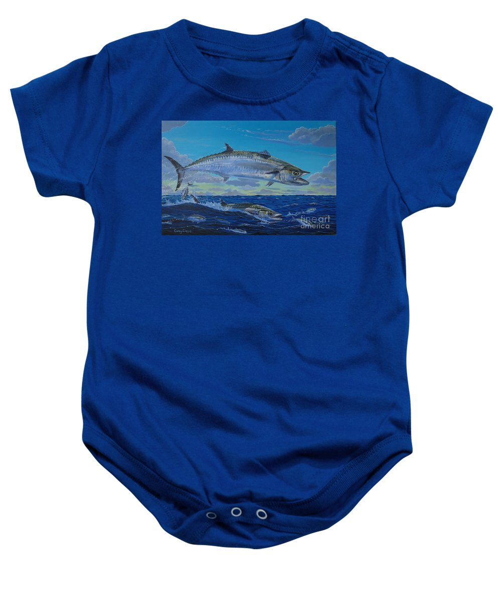 Kingfish Baby Onesie featuring the painting Two Kings by Carey Chen