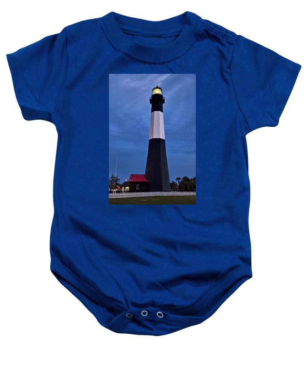 Tybee Island Baby Onesie featuring the photograph Tybee Island Evening Light by Diana Powell