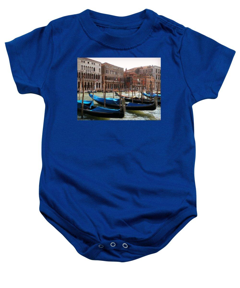 Veneziano Trasporto Baby Onesie featuring the photograph Veneziano Trasporto by Micki Findlay