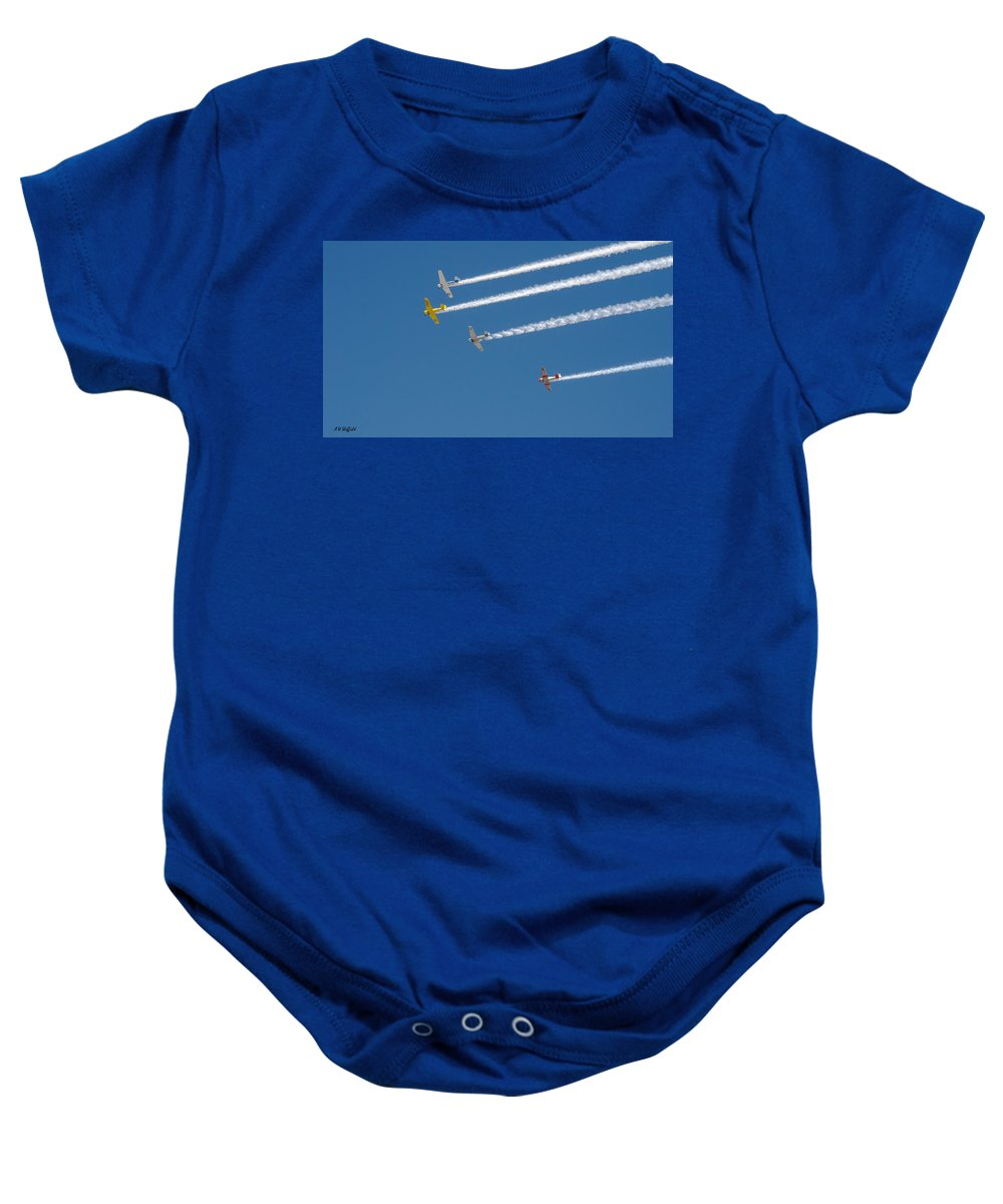 Veterans Day Baby Onesie featuring the photograph Veterans Day Flyover - Overhead by Allen Sheffield