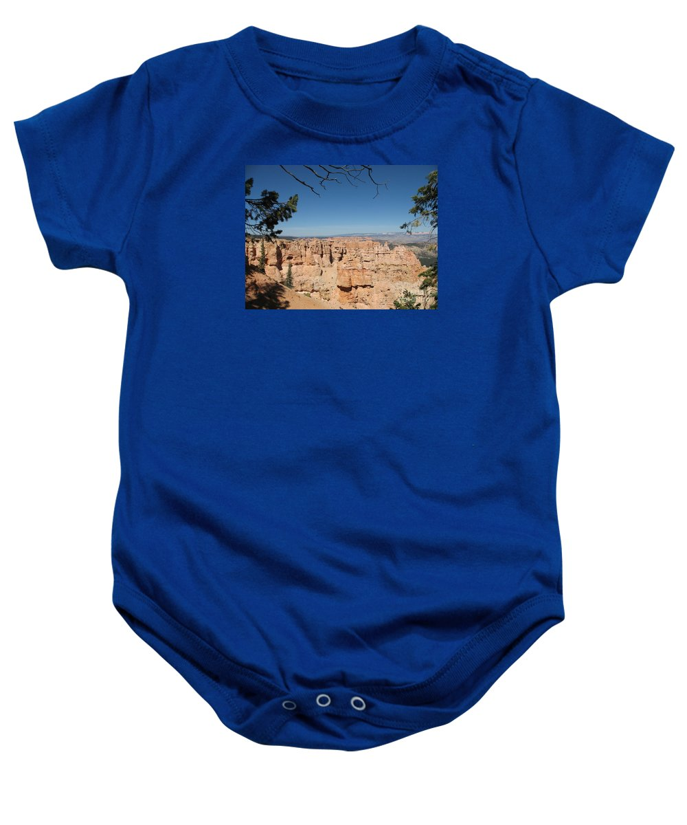 Mountains Baby Onesie featuring the photograph Viewpoint At Bryce Canyon by Christiane Schulze Art And Photography