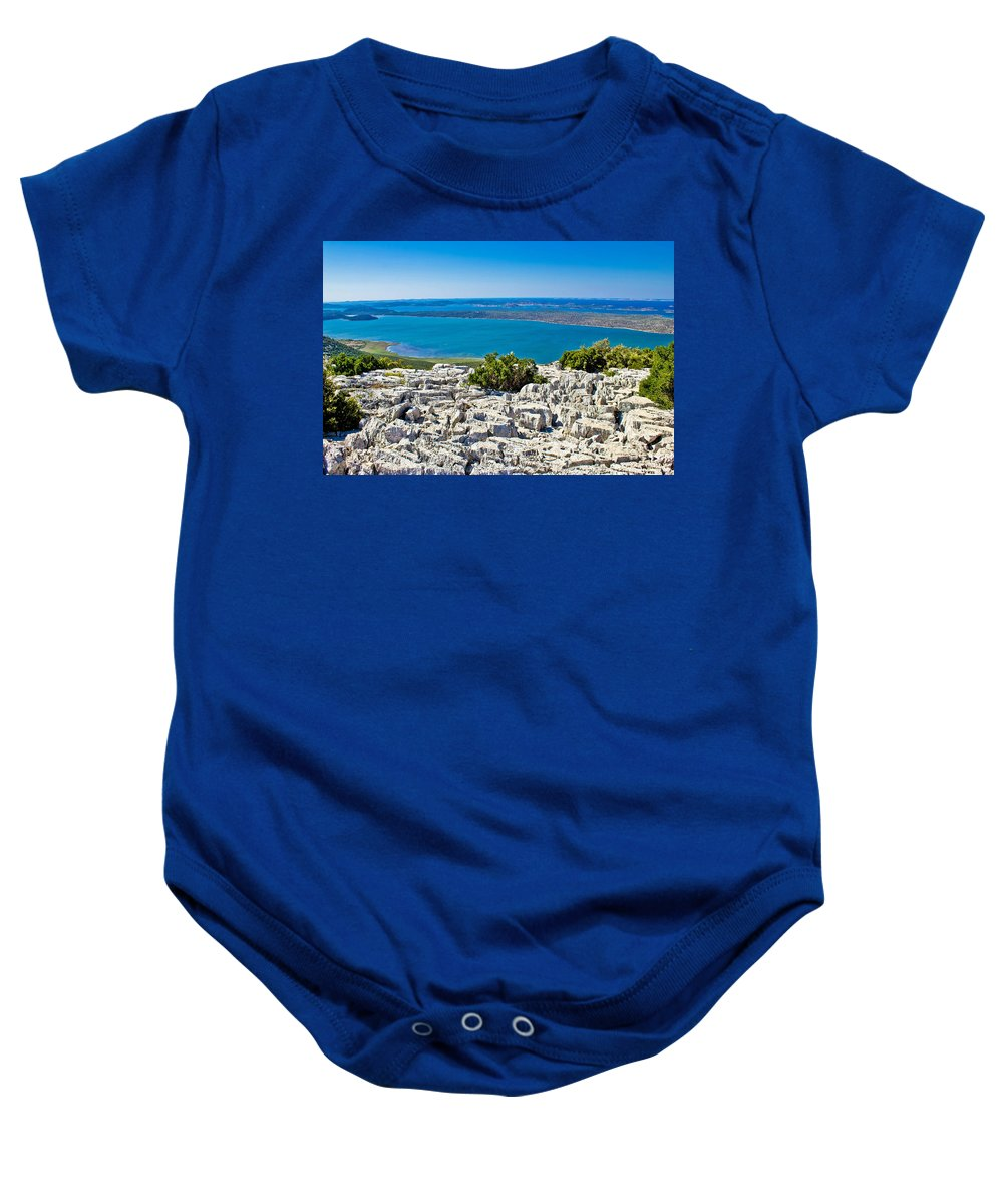 Vrana Baby Onesie featuring the photograph Vransko Lake And Kornati Islands by Brch Photography