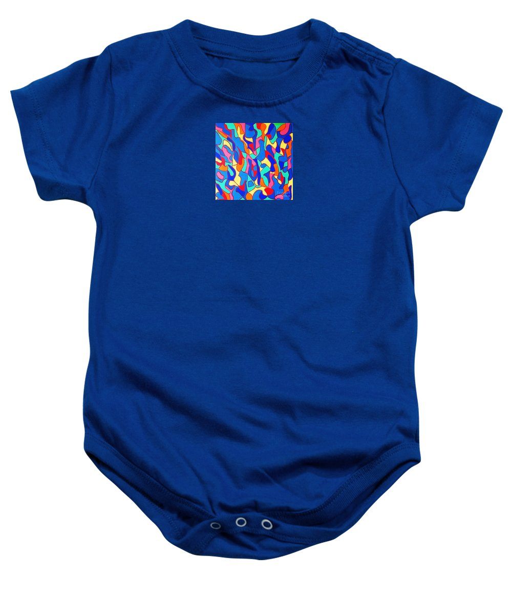 Eunice Broderick Baby Onesie featuring the painting Walk In Israel by Eunice Broderick