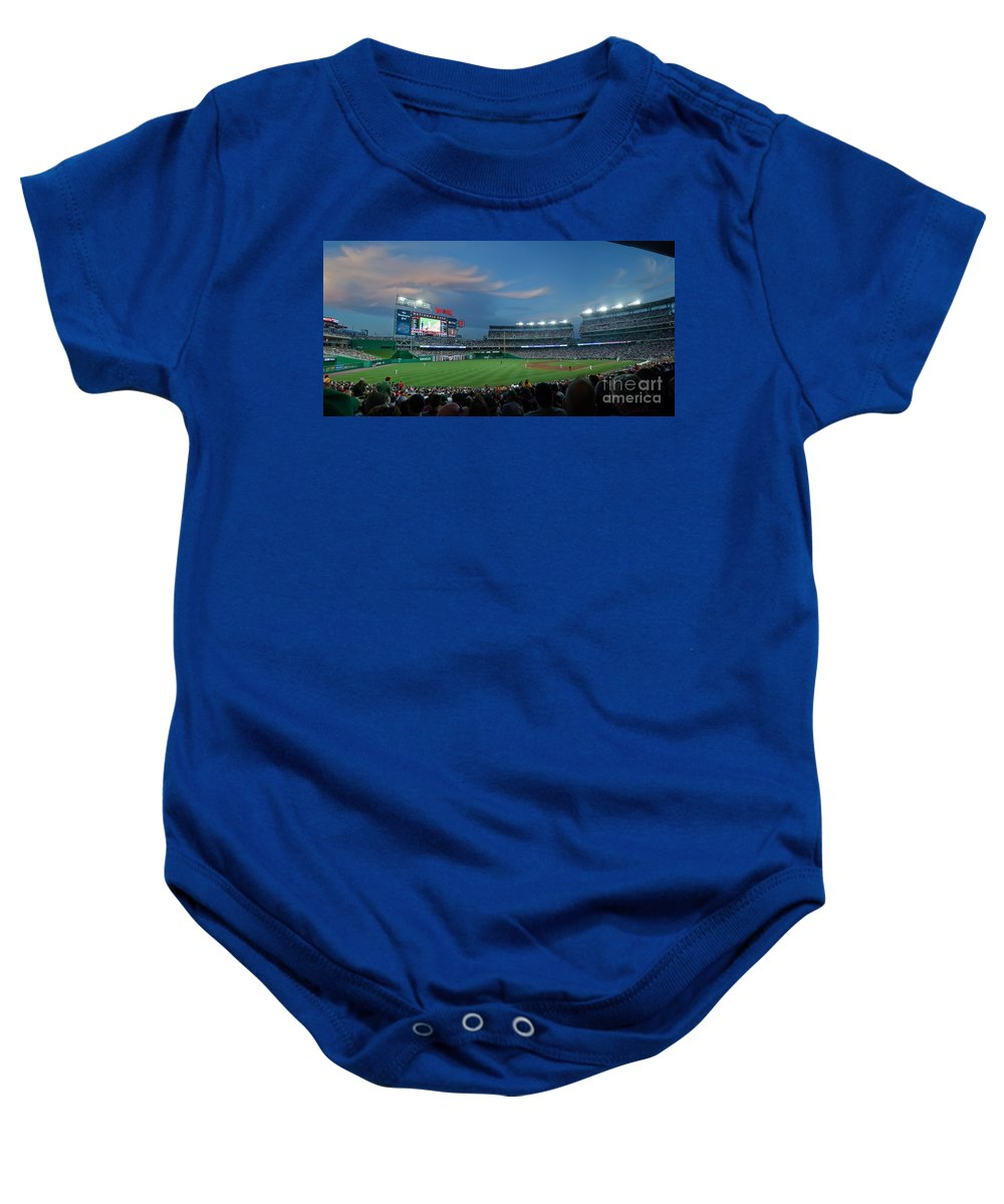 Red Sox Baby Onesie featuring the photograph Washington Nationals In Our Nations Capitol by Thomas Marchessault