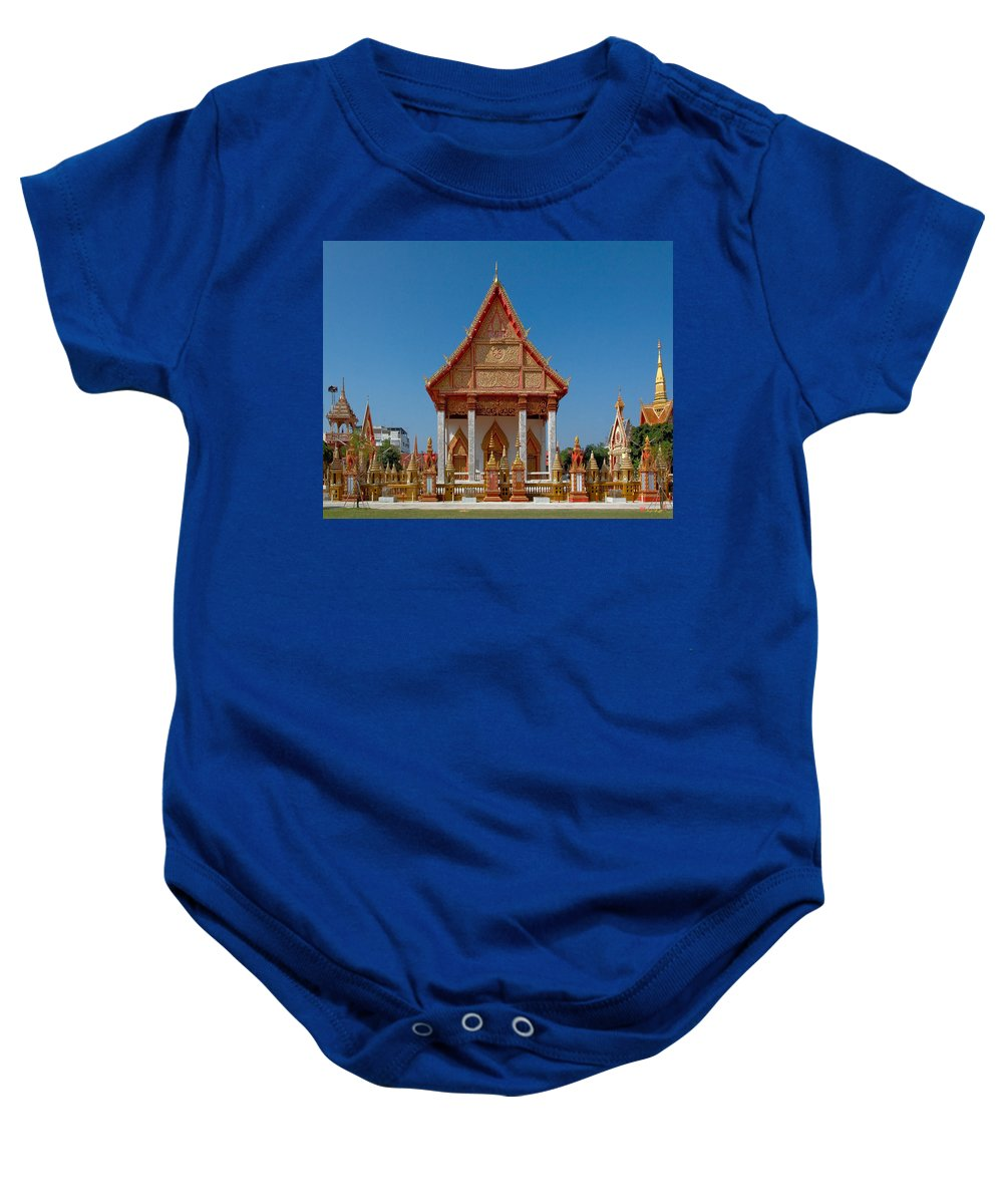 Thailand Baby Onesie featuring the photograph Wat Liab Ubosot Dthu035 by Gerry Gantt
