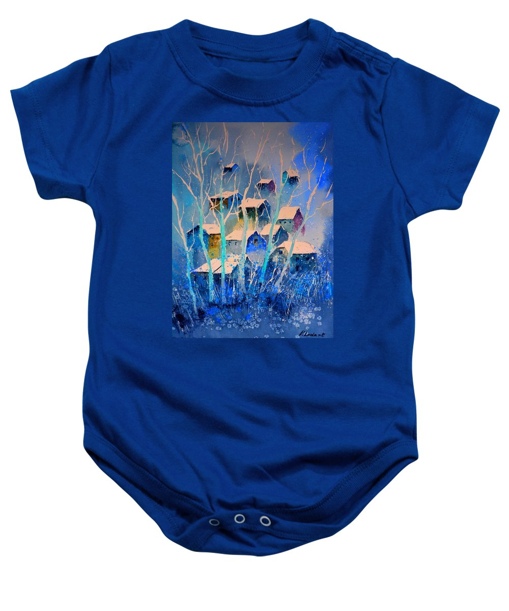 Landscape Baby Onesie featuring the painting Watercolor 5110412 by Pol Ledent