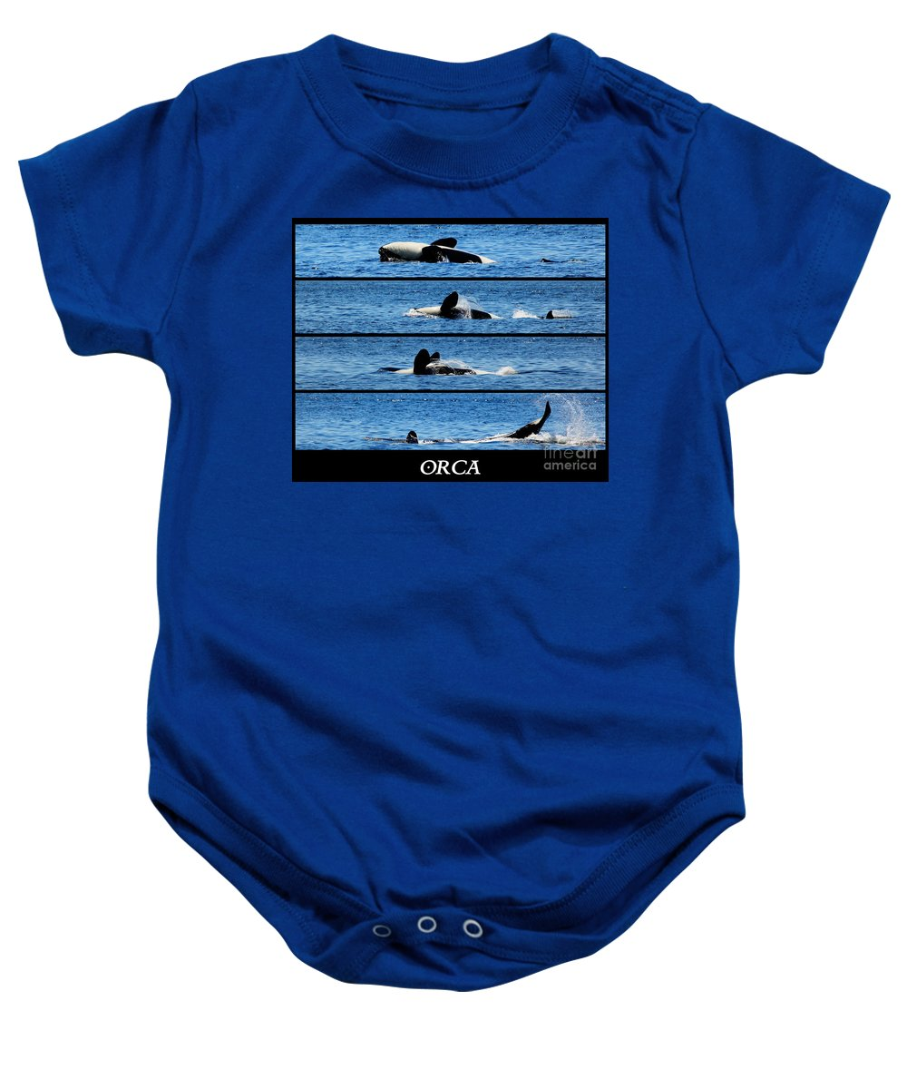 Whale Baby Onesie featuring the photograph Whale Of A Time by Traci Law