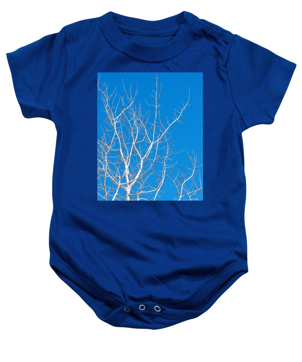 Winter Baby Onesie featuring the photograph Winter by Ann Horn