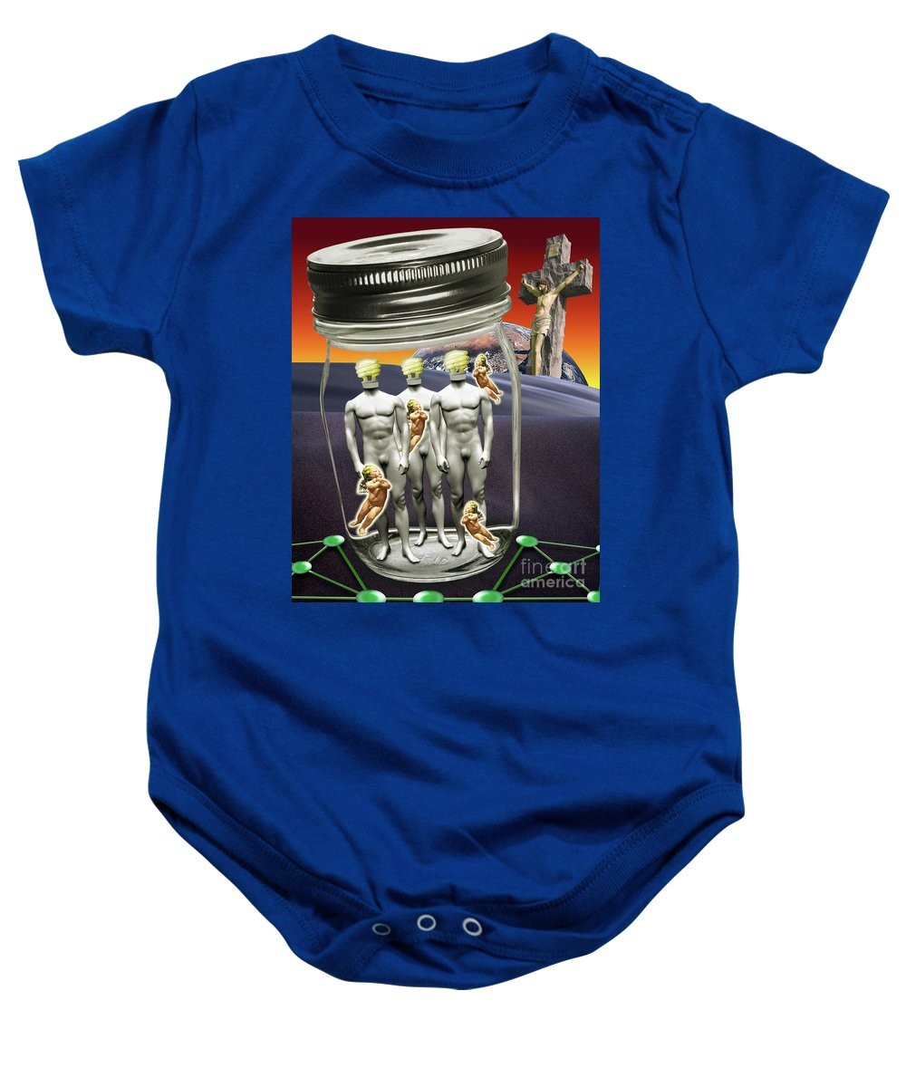 Technology Baby Onesie featuring the digital art Wise Men 2.0 2011 by Keith Dillon