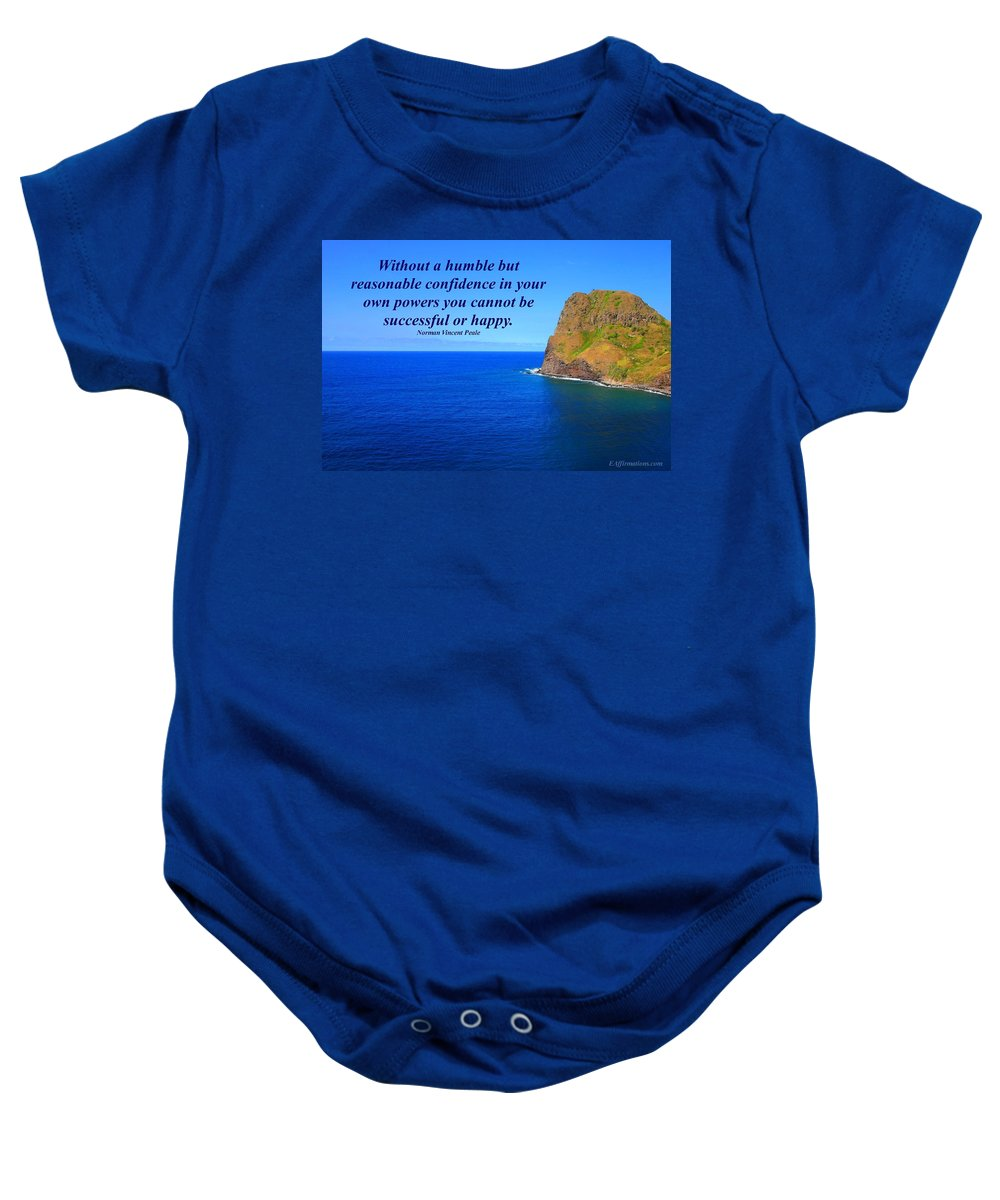 Maui Baby Onesie featuring the photograph Without A Humble Confidence by Pharaoh Martin