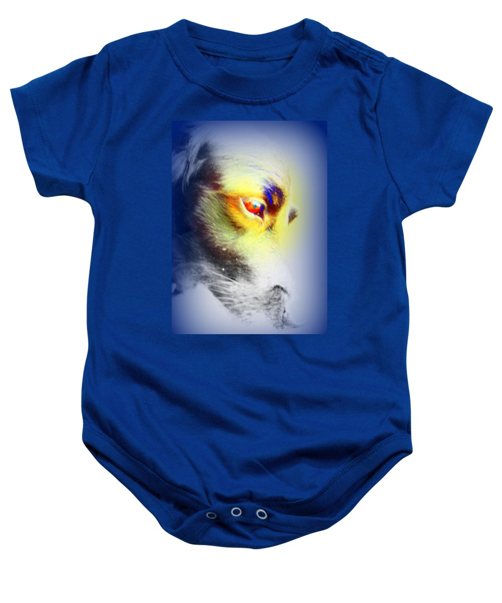 Eye Baby Onesie featuring the photograph I Love Your Look And You Love To Look At Me   by Hilde Widerberg
