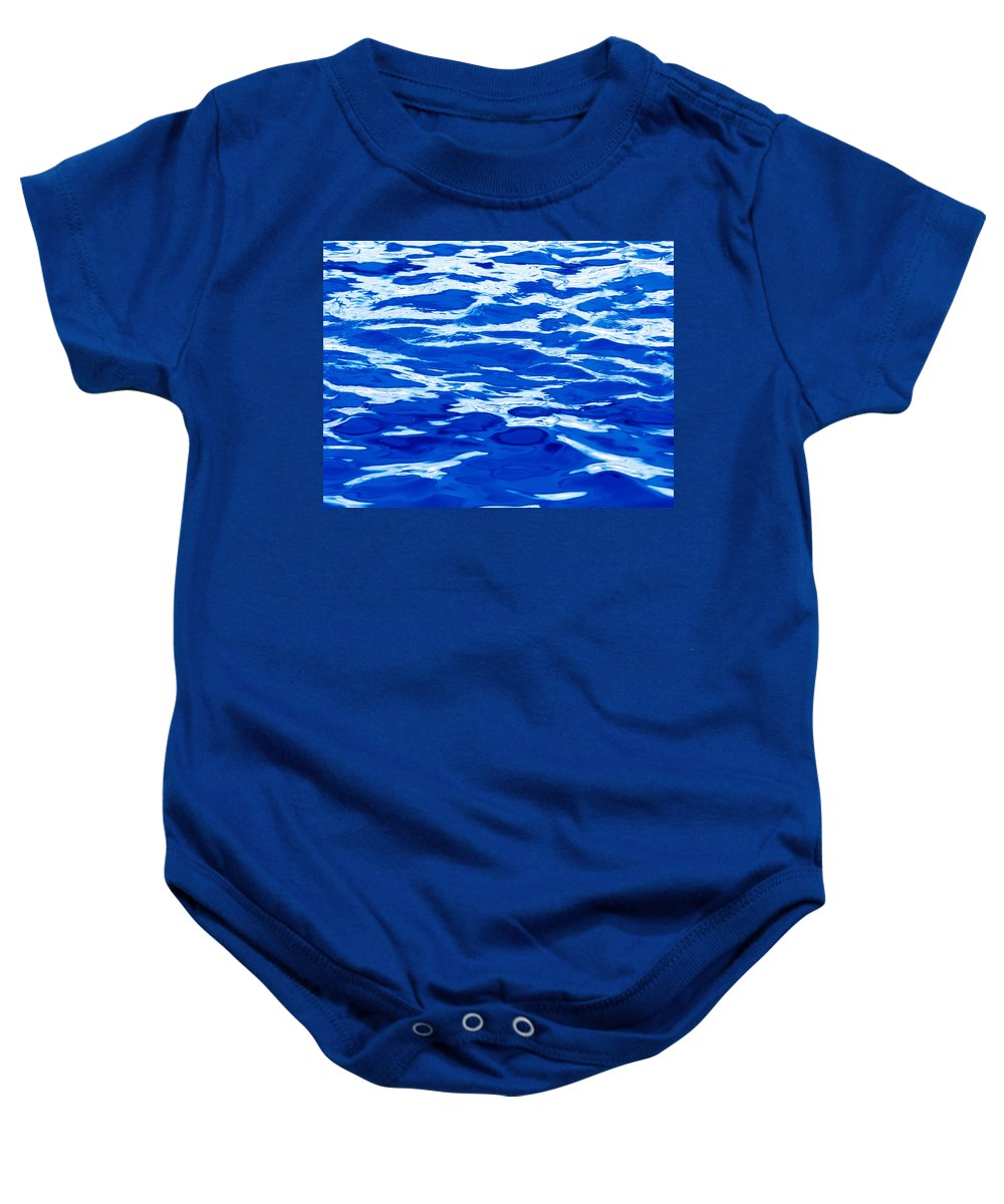 Abstract Baby Onesie featuring the photograph Blue Water by Skip Nall