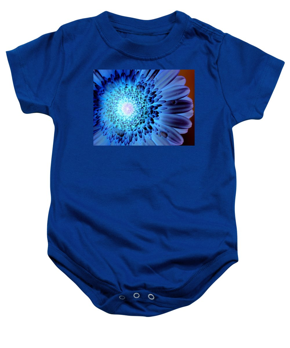Gerbera Photographs Baby Onesie featuring the photograph 1475c-001c by Kimberlie Gerner