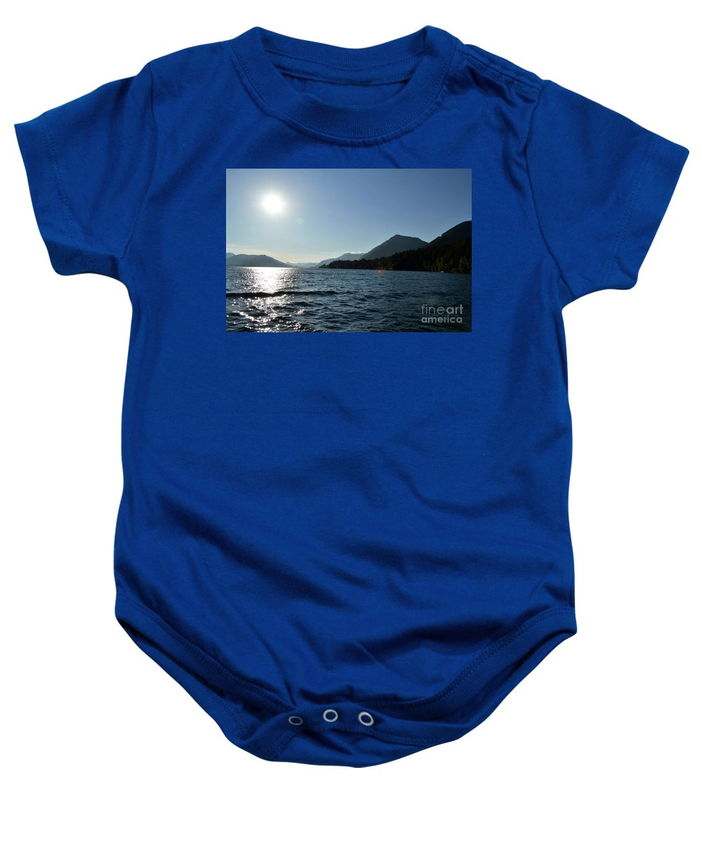 Ocean Baby Onesie featuring the photograph Sunset by Traci Cottingham