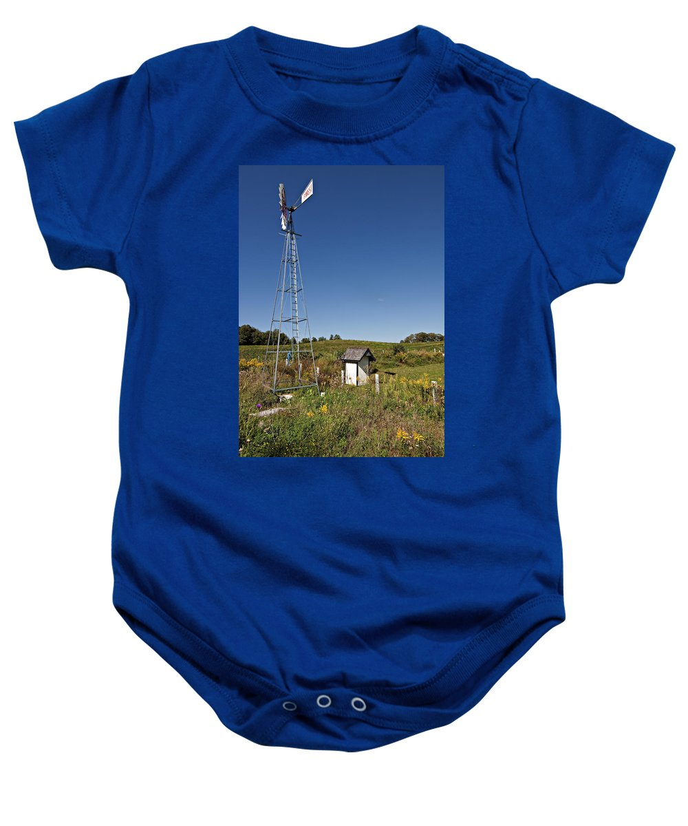 Grey Roots Museum & Archives Baby Onesie featuring the photograph A Moving Memory by Steve Harrington