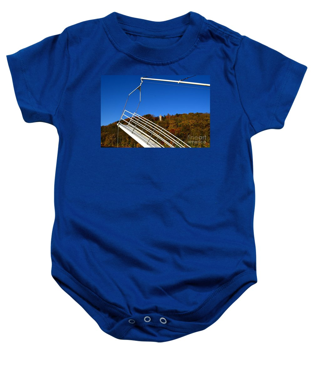 Color Photography Baby Onesie featuring the photograph A View Of Chief Blackhawk by Sue Stefanowicz