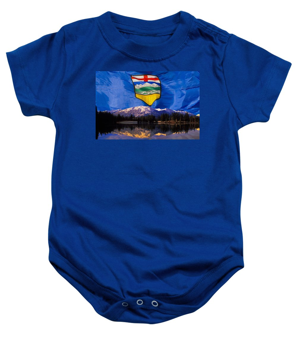 Horizon Baby Onesie featuring the photograph Albertas Rocky Mountains by Corey Hochachka