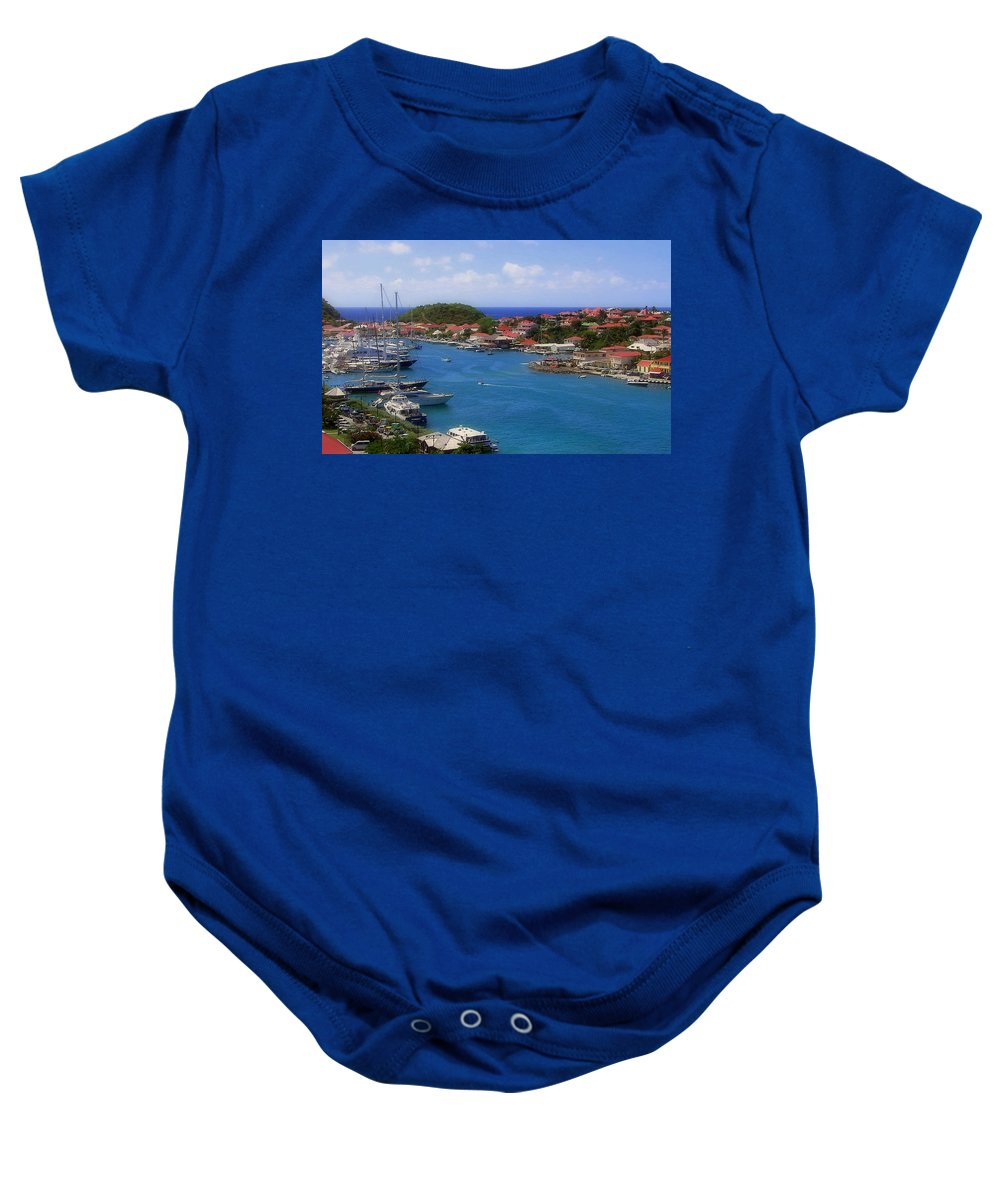 Gustavia Baby Onesie featuring the photograph Beautiful Gustavia by Karen Wiles