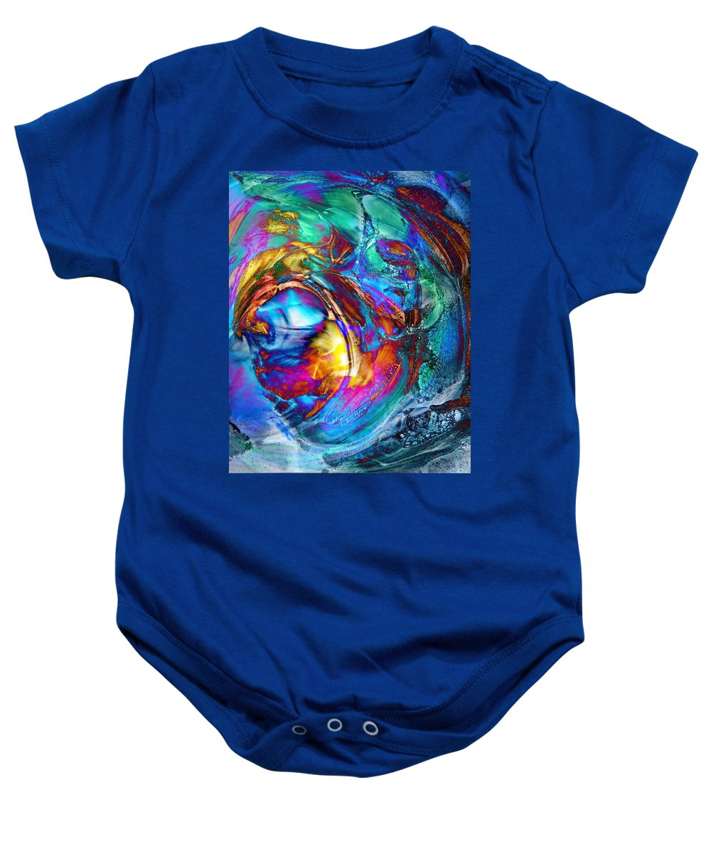 Abstract Baby Onesie featuring the digital art Breaker by Francesa Miller