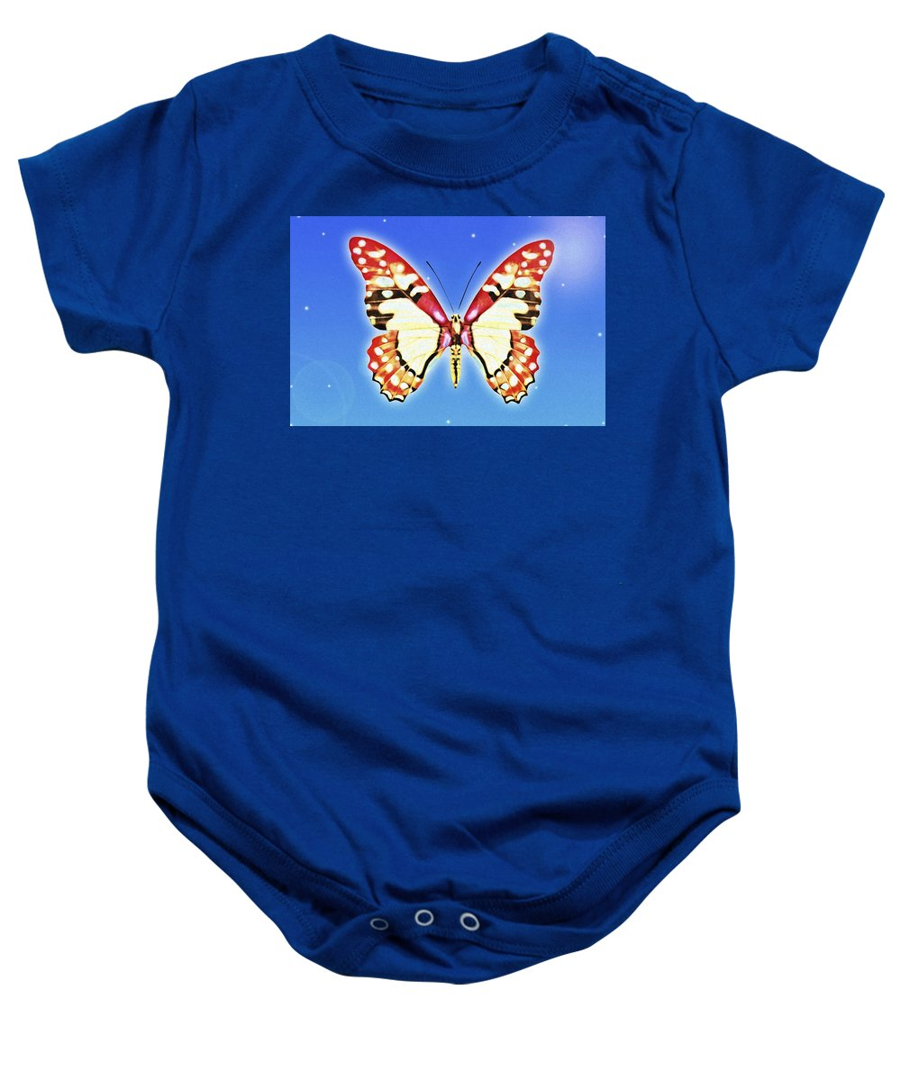 Animals Baby Onesie featuring the photograph Butterfly by Chris Knorr