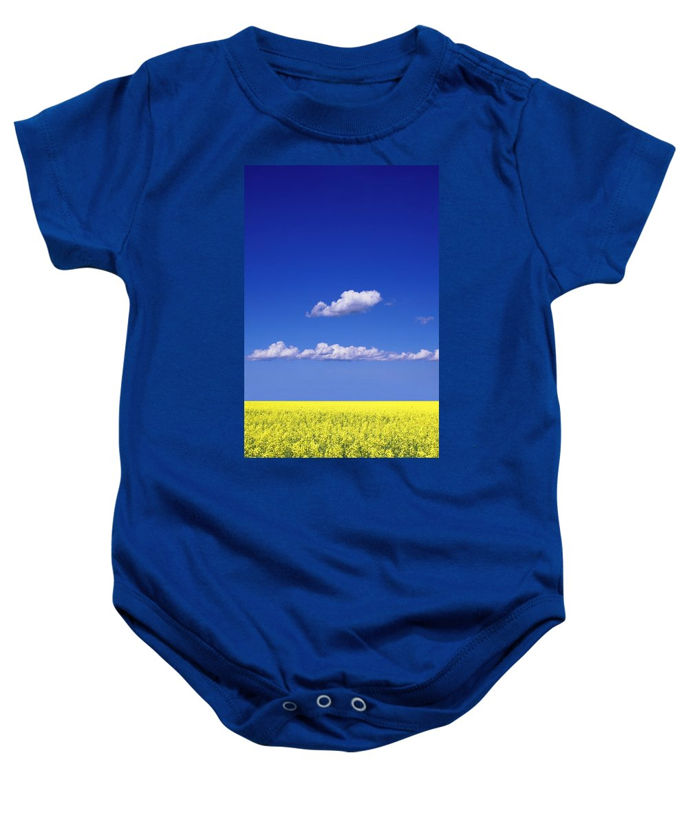 Canola Baby Onesie featuring the photograph Canola Field by Don Hammond
