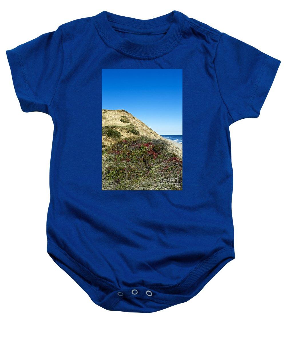 Beach Baby Onesie featuring the photograph Cape Cod Dune Cliff by John Greim