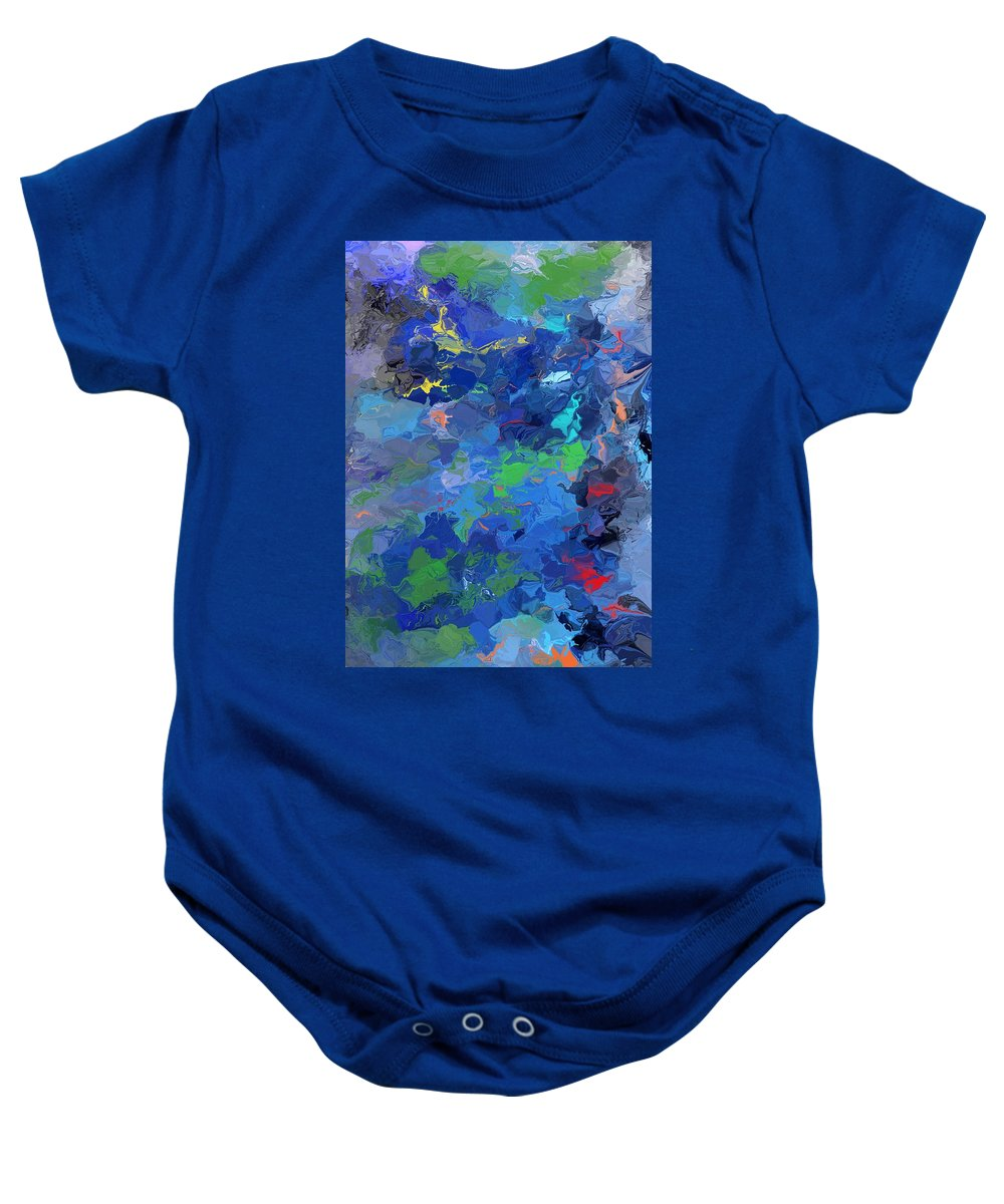 Fine Art Baby Onesie featuring the digital art Chaotic Nature by David Lane
