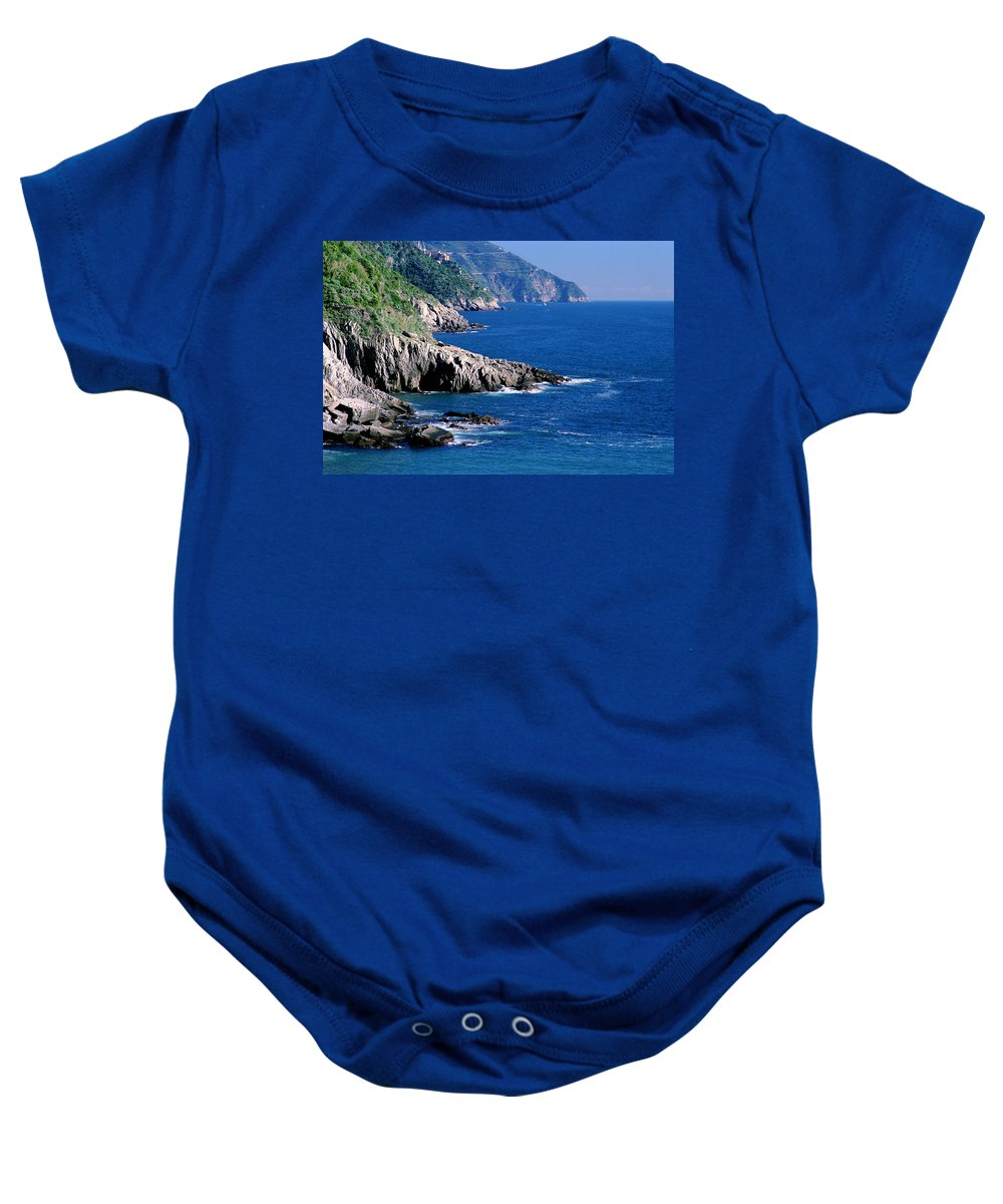Cinque Terre Baby Onesie featuring the photograph Cinque Terre Coastline by Greg Matchick
