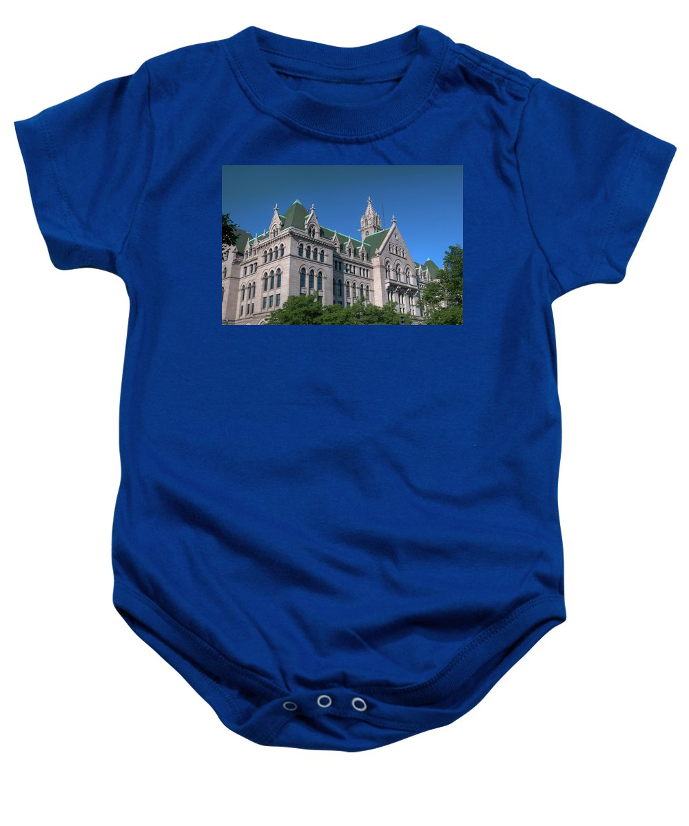 Architecture Baby Onesie featuring the photograph Ecc 0946c by Guy Whiteley
