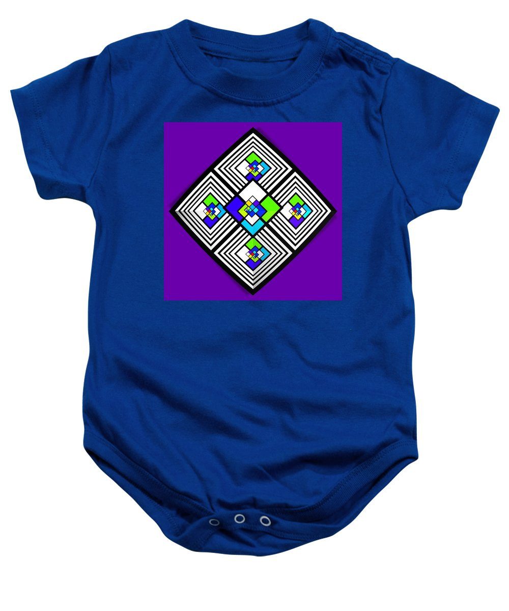 Roof Baby Onesie featuring the painting Eden by Charles Stuart