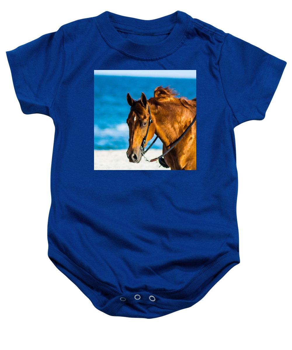 Baby Onesie featuring the photograph Enjoying The Breeze by Shannon Harrington