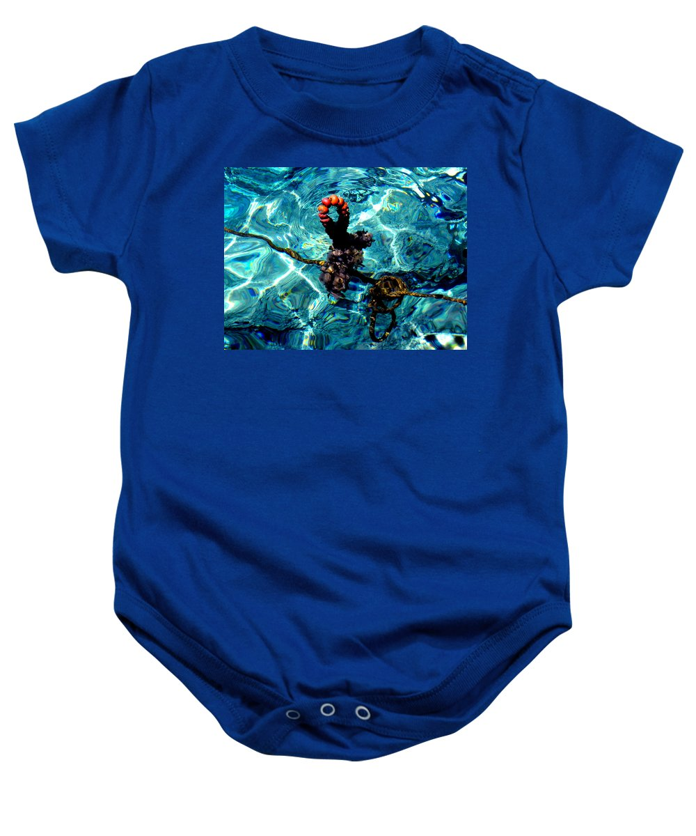 Colette Baby Onesie featuring the photograph Fish Knot Santorini Greece by Colette V Hera Guggenheim