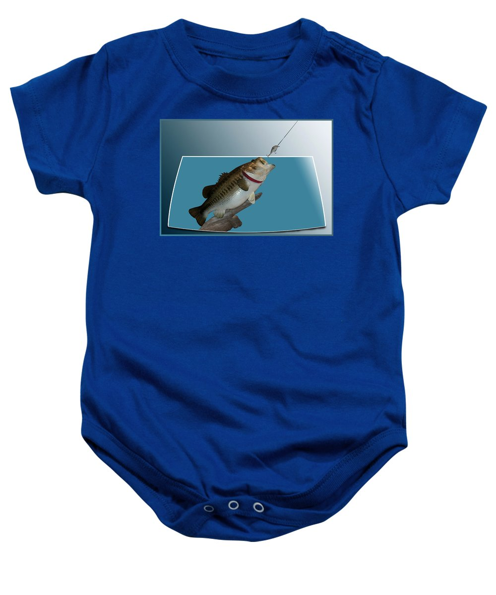 Animals Baby Onesie featuring the photograph Fish Mount Set 13 D by Thomas Woolworth