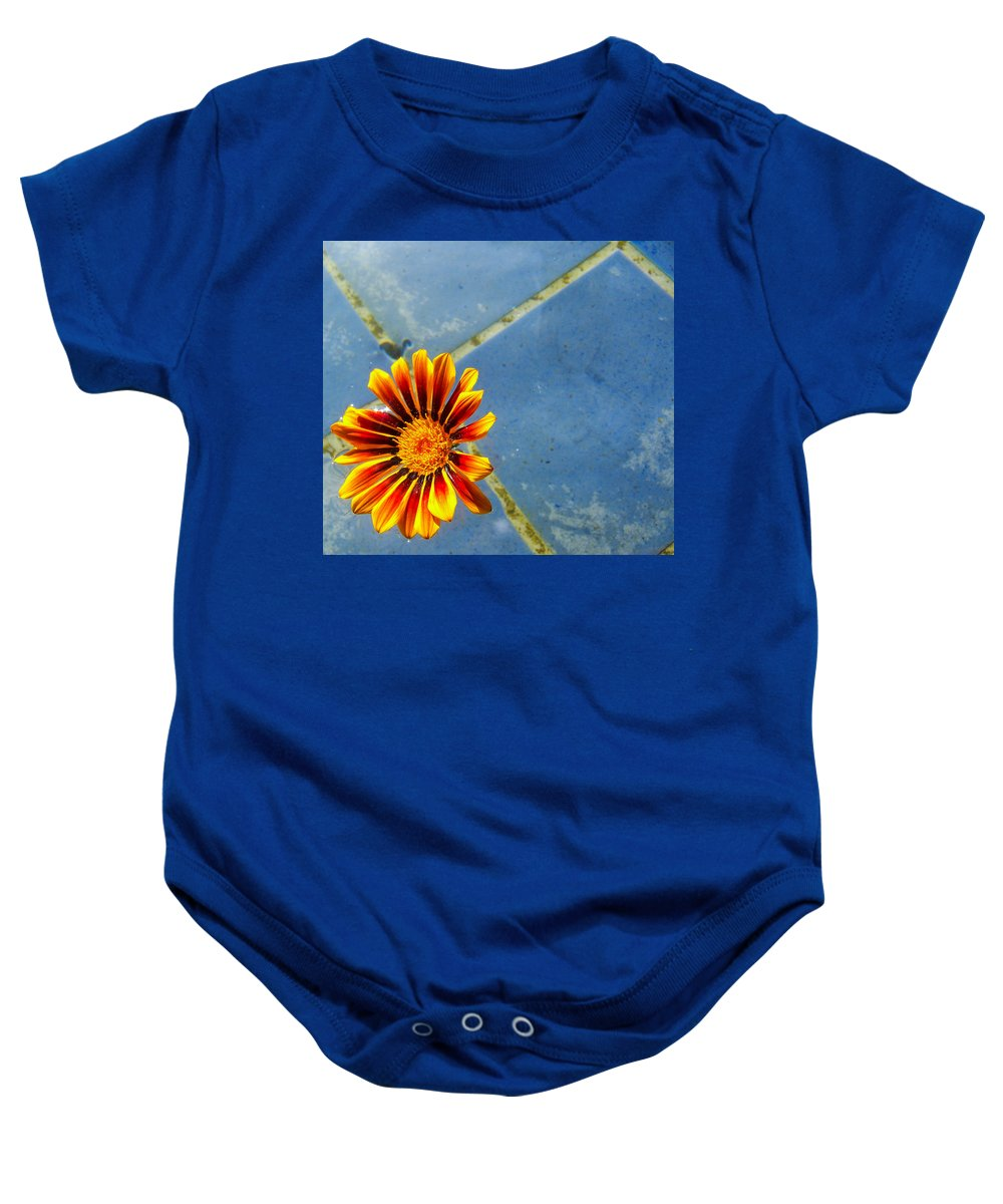 Flower Baby Onesie featuring the photograph Flower On Water by Christofer Johnson